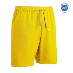 Pantalón corto de Fútbol júnior Kipsta F500 amarillo
