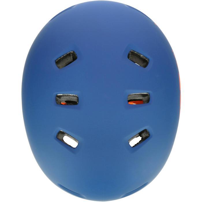 MF 7 Skate Skateboard Scooter Bike Helmet - Blue/Orange - 17226