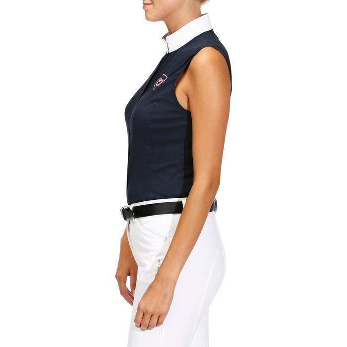 Camisa sin mangas Concurso equitación mujer azul marino