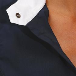 Turnier-Reitbluse ärmellos Damen marineblau