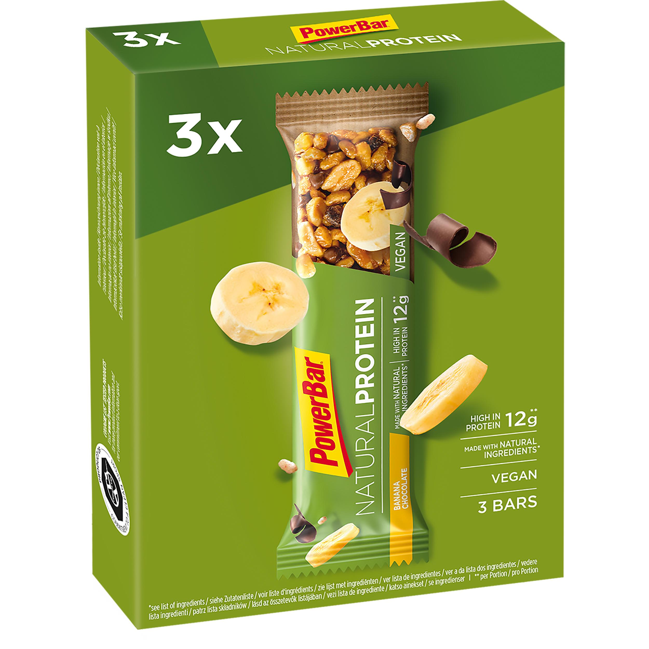 Proteinriegel Eiweißriegel Natural Protein Schoko/Banane 3 × 40 g