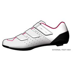 Zapatillas ciclismo carretera ciclodeporte 500 BLANCO