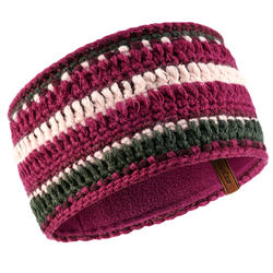 Adult Mixyarn Ski Headband - Grey Plum