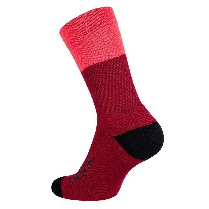 CHAUSSETTES VELO 500 HIVER ROSE