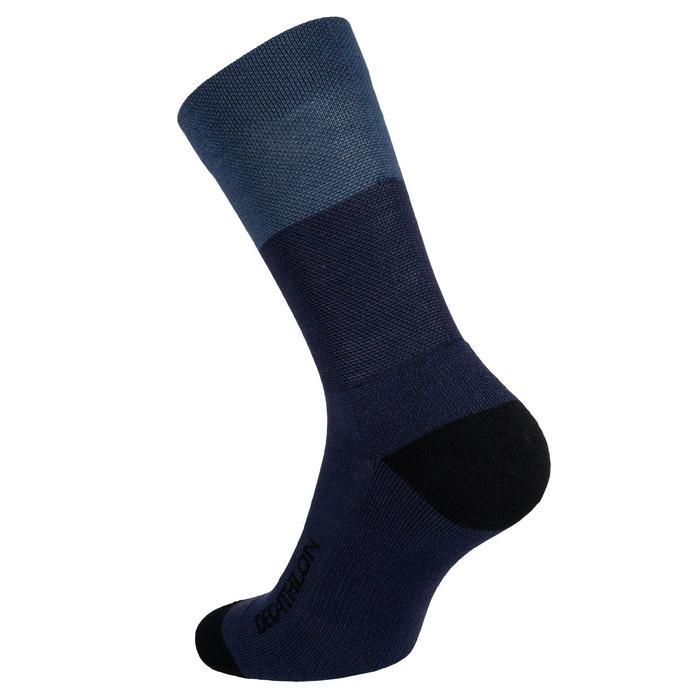 Fietssokken voor de winter 500 grijs/blauw