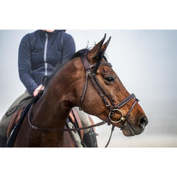 Hoofdstel ruitersport 580 Glossy bruin - maat paard
