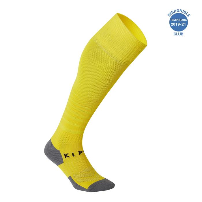 Medias de fútbol adulto F500 amarillo