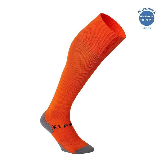 Chaussettes de football adulte F500 orange