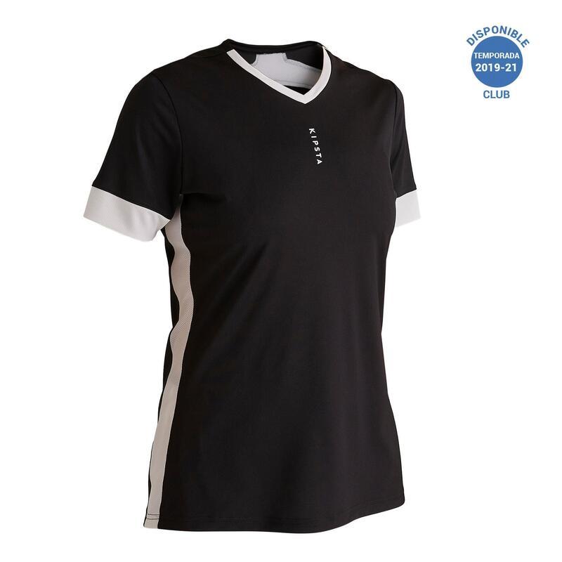 Dámský fotbalový dres F500 černo-bílý