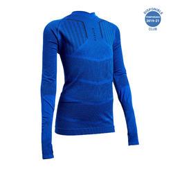 Camiseta Térmica Kipsta Keepdry 500 niños azul índigo