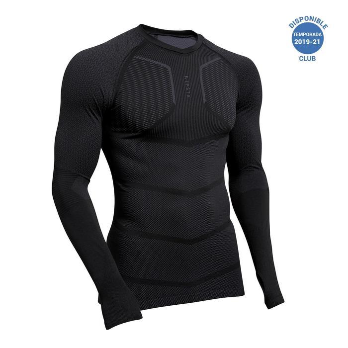 Camiseta Térmica Kipsta Keepdry 500 adulto negro