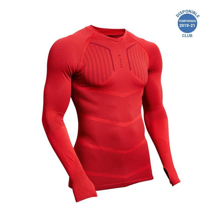 Camiseta Térmica Kipsta Keepdry 500 adulto rojo