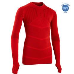 Thermoshirt kind Keepdry 500 lange mouw rood