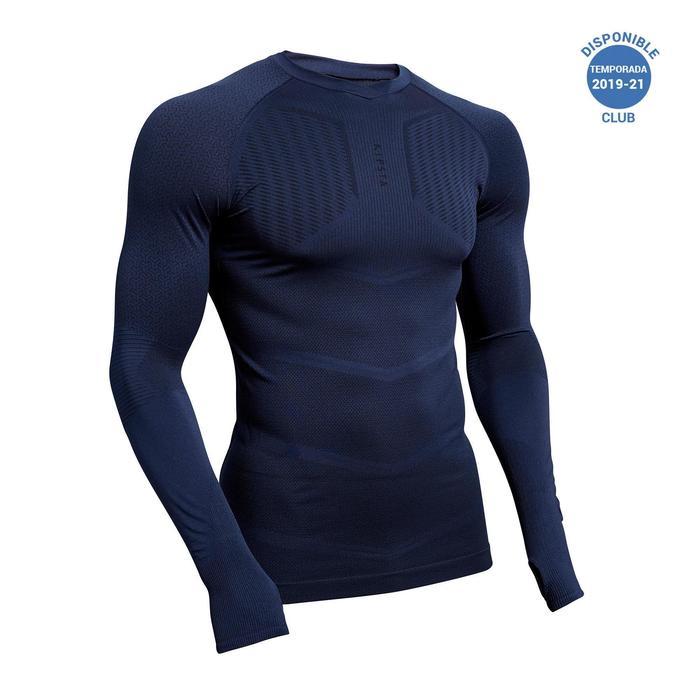 Camiseta Térmica Kipsta Keepdry 500 adulto azul oscuro