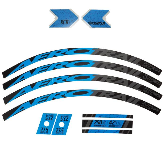 Set stickers fiets blauw
