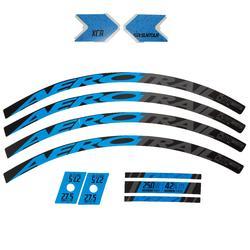 kit sticker vélo bleu