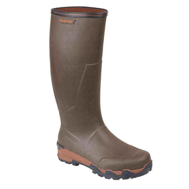 INSULATED REINFORCED WELLIES Shooting and Hunting - WARM BOOTS 900 BROWN SOLOGNAC - Shooting and Hunting