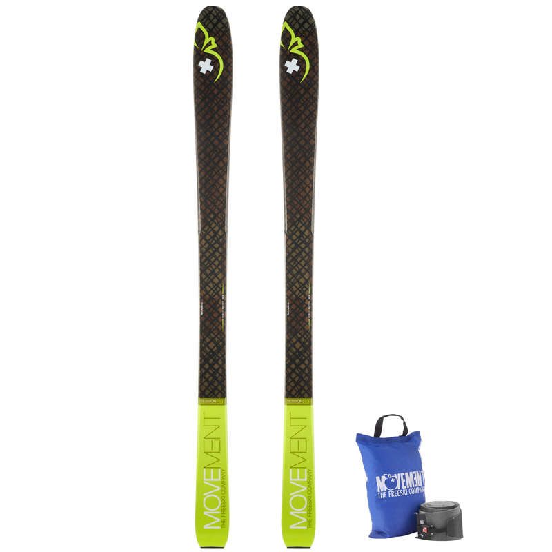 SKI TOURING EQUIPMENT Ski Equipment - SKI MOVEMENT SESSION 89+SKINS MOVEMENT - Ski Equipment