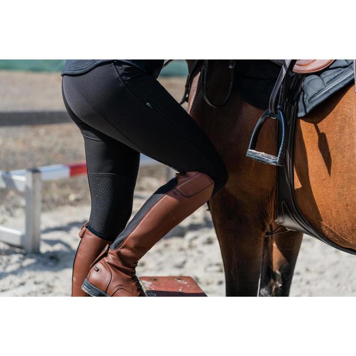 Reithose 560 Silikon Kniebesatz Damen schwarz