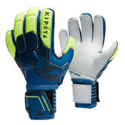 Adult Football Goalkeeper Gloves F500 - Blue/Yellow