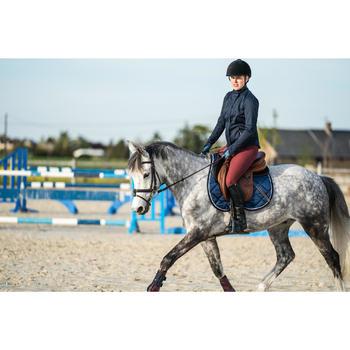 Pantalon équitation femme 560 JUMP basanes silicone bordeaux