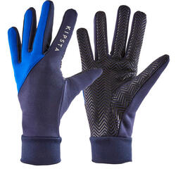 Handschuhe Fussball Keepdry 500 Kinder blau