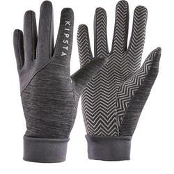 Voetbalhandschoenen voor volwassenen Keepdry 500 volwassenen gechineerd grijs