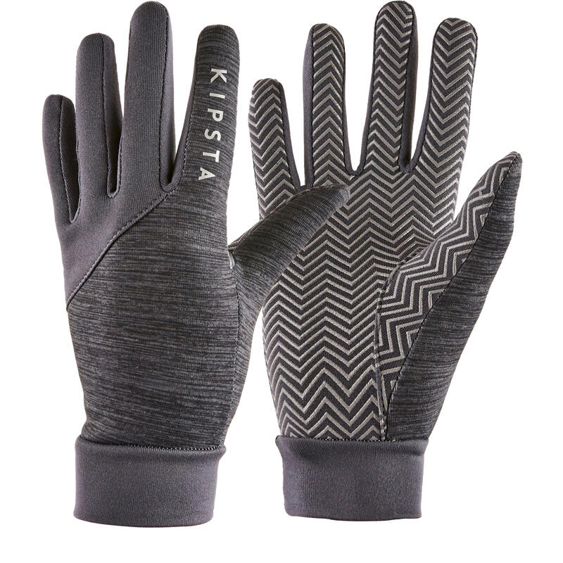 Adult Football Gloves Keepdry 500 - Mottled Grey