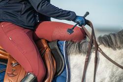 560 Jump Women's Horseback Riding Silicone Patch Jodhpurs - Burgundy