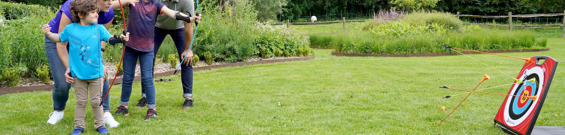 Le kit archery soft 100 pour découvrir le tir à l'arc en famille