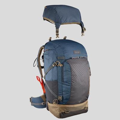 Sac à dos 70 litres de trek voyage - TRAVEL 500 bleu homme