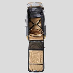 Afsluitbare trekrugzak voor dames Travel 500 70 liter grijs