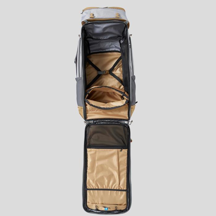 Backpacking Rucksack Travel 500 Easyfit Damen 70Liter grau