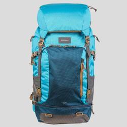 Afsluitbare trekrugzak voor dames Travel 500 50 liter blauw
