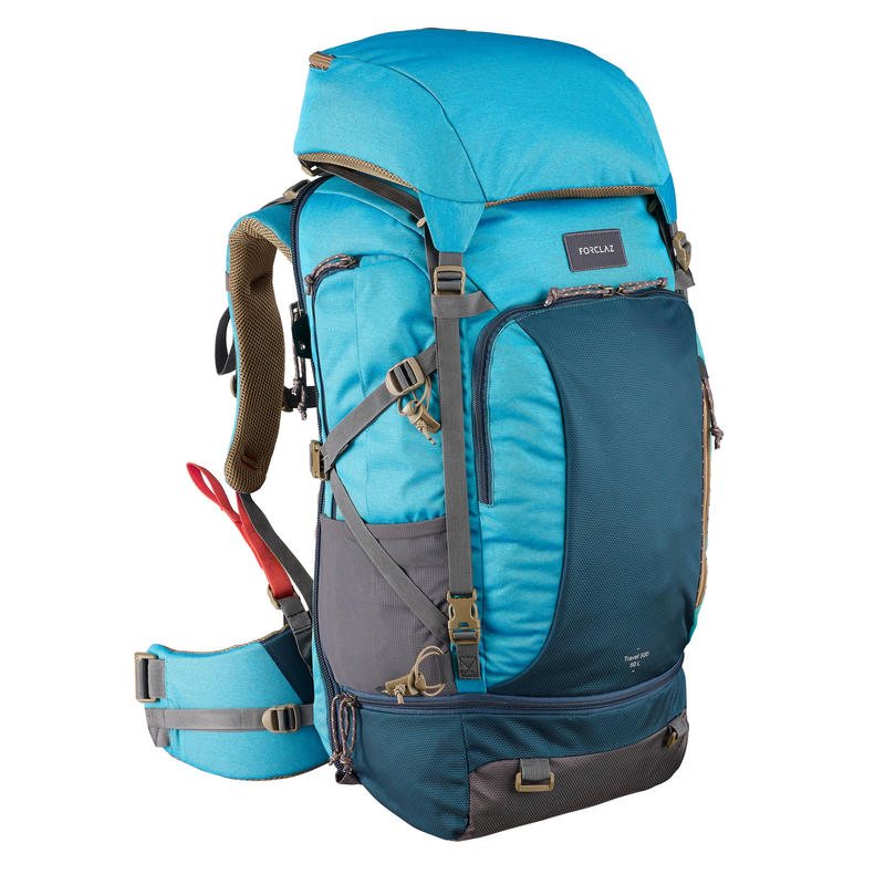Sac à dos 50 L de voyage de randonnée TRAVEL 500 bleu - Femmes