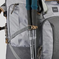 Sac à dos Trekking TRAVEL500 70 litres Femme cadenassable gris