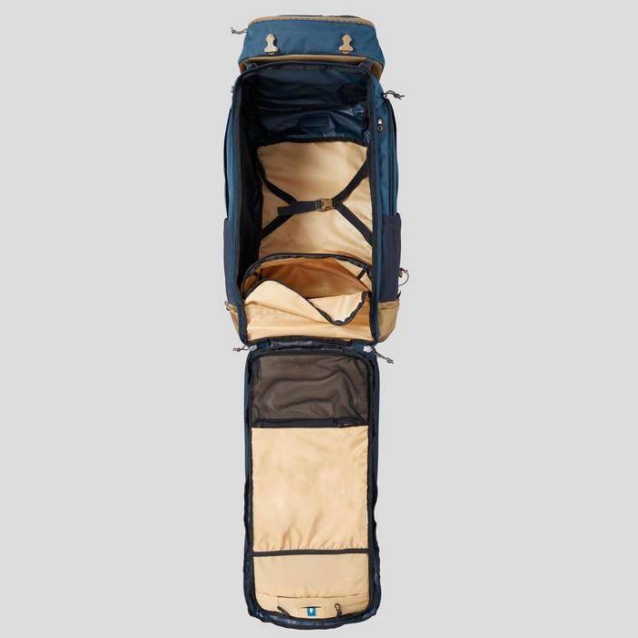 Afsluitbare trekrugzak voor heren Travel 500 70 liter blauw