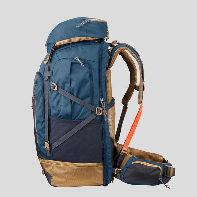 Men's Travel Trekking 70 L Backpack Travel 500 - Blue