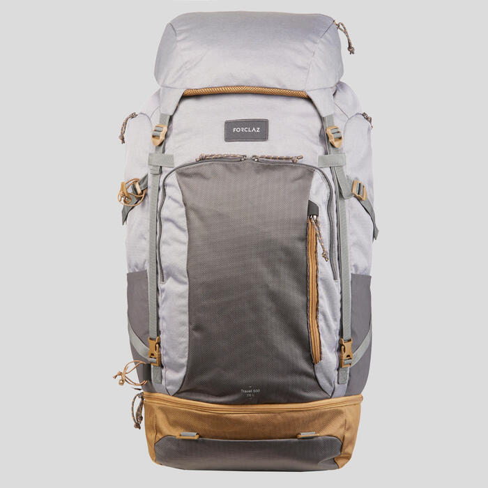 Backpack dames Travel 500 70 liter grijs