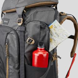 Afsluitbare trekrugzak voor heren Travel 500 50 liter grijs