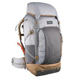 Rugzak 70 liter voor backpacken dames Travel 500 grijs