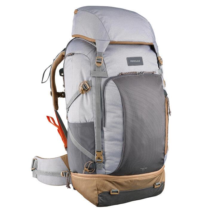 Women's 70 litre trekking rucksack - TRAVEL 500 - Grey FORCLAZ - Decathlon