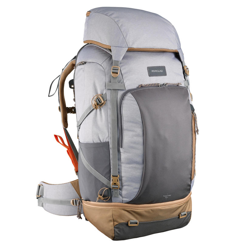 c135b52fc6db Travel 500 Women's Trekking 70L Backpack with Padlock - Grey