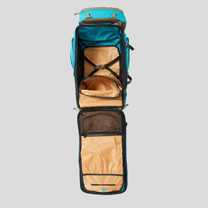 Sac à dos 50 litres de trek voyage - TRAVEL 500 bleu femme