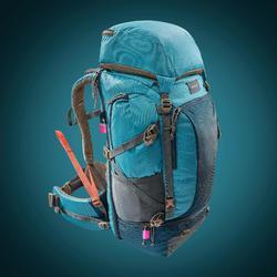 Sac à dos trekking TRAVEL500 50 litres cadenassable femme bleu