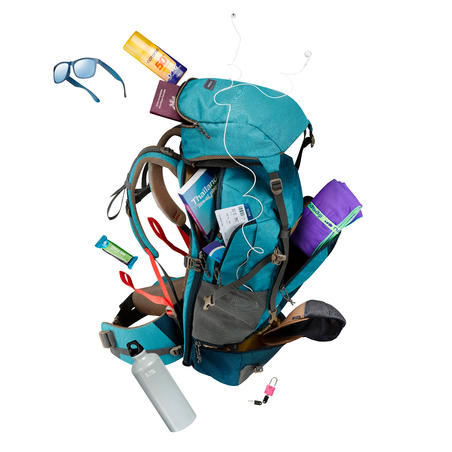 Travel 500 Women's Trekking 50L Backpack with Padlock - Blue