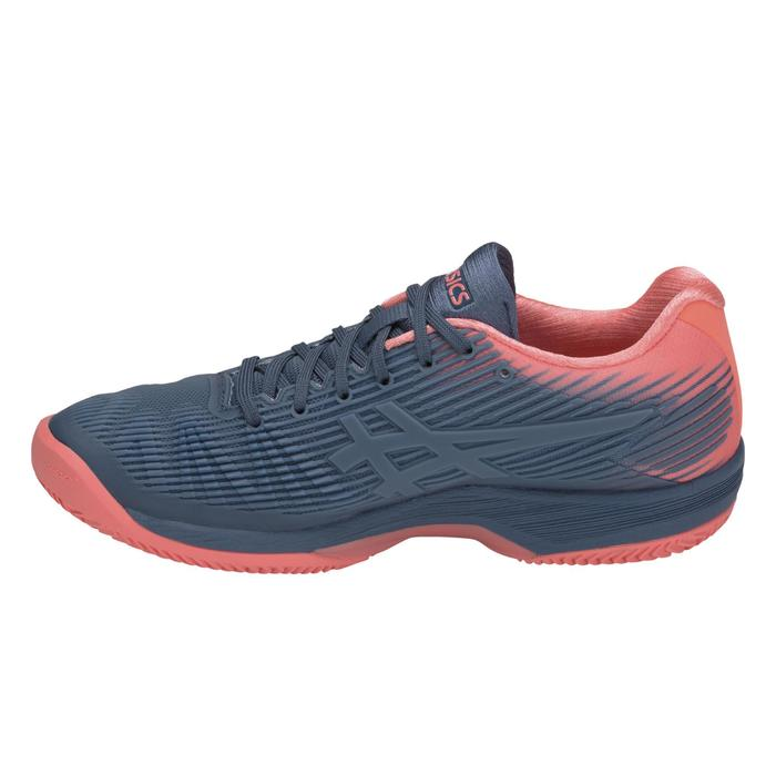 Tennisschuhe Solution Speed Clay Sandplatz Damen blau/rosa