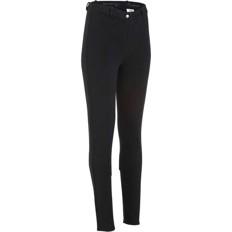 Bayan binicilik pantolonu Binicilik - Kadın Binici Pantolonu Accesy Siyah FOUGANZA - All Sports