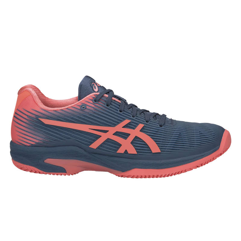 WOMEN CLAY COURT SHOES Tennis - Solution Clay - Blue/Pink ASICS - Tennis Shoes