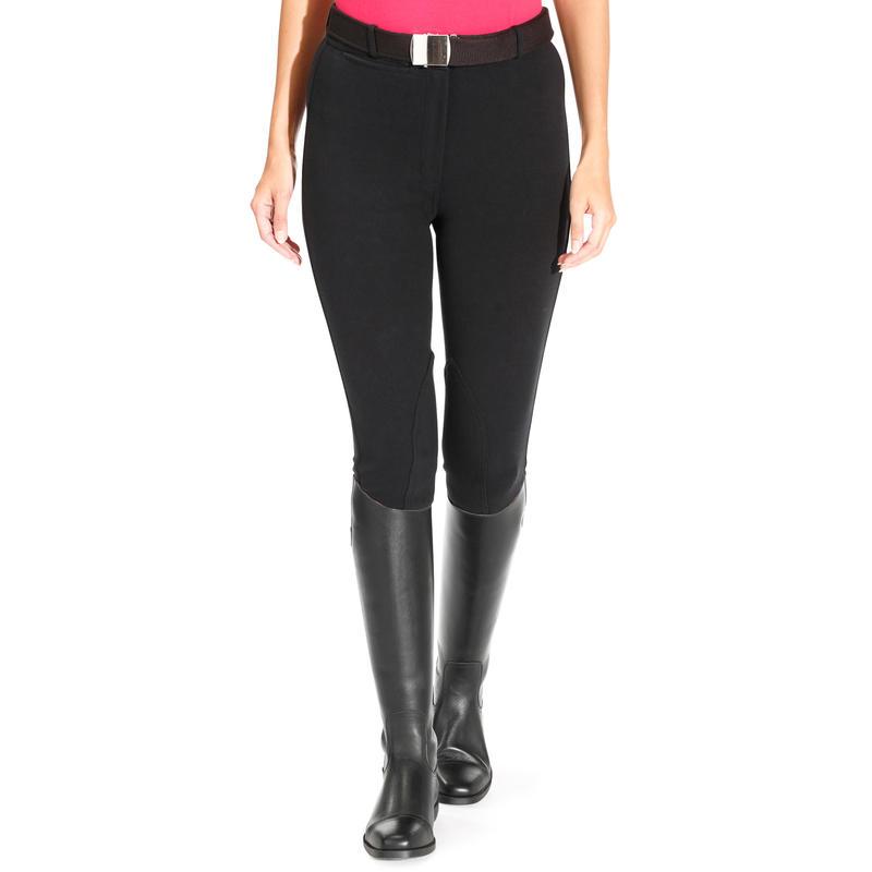 Pantalón equitación mujer BR100 Negro
